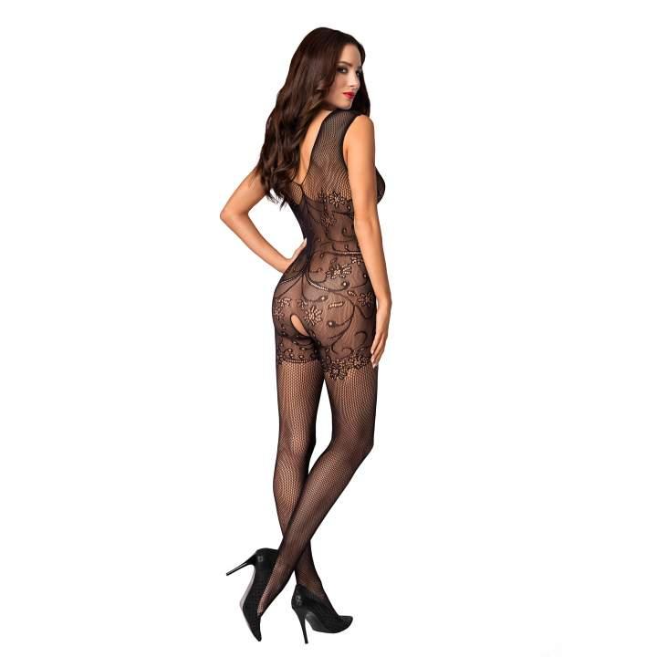 Czarny kostium siateczkowy Obsessive F234