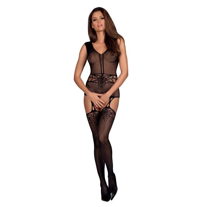 Czarny kostium siateczkowy Obsessive F232