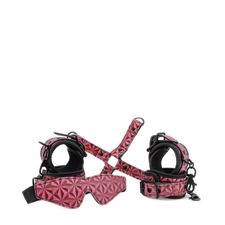 Luksusowy różowy zestaw niewoli BDSM - 4 elementy