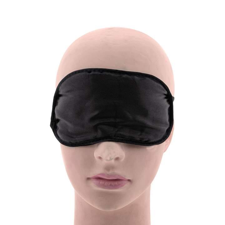 Czarna maska na oczy z satyny