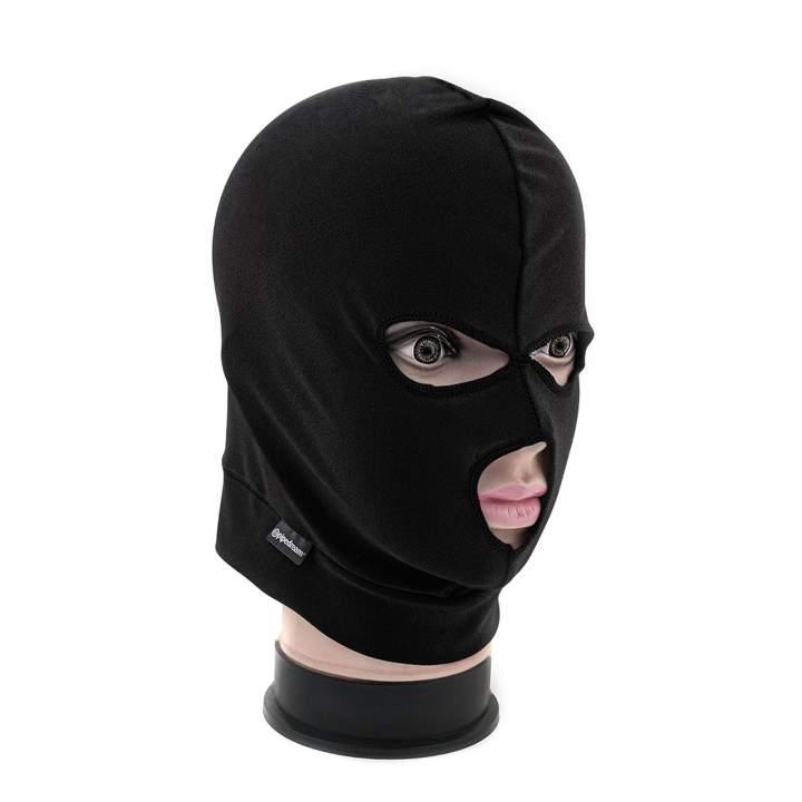 Czarna elastyczna maska na twarz