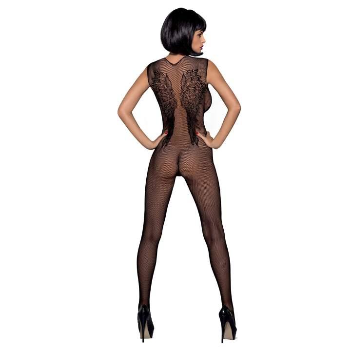 Kokieteryjny czarny siateczkowy kostium Obsessive N112