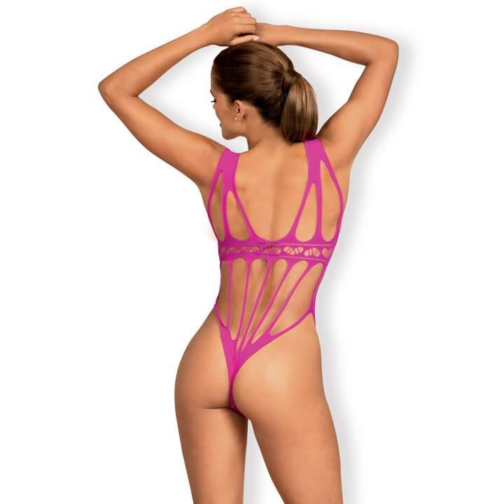 Różowe cybergotyckie body marki Obsessive B121