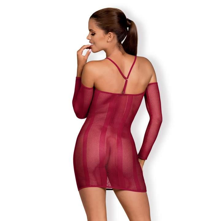 Czerwona sukienka Obsessive Dressie z rękawkami