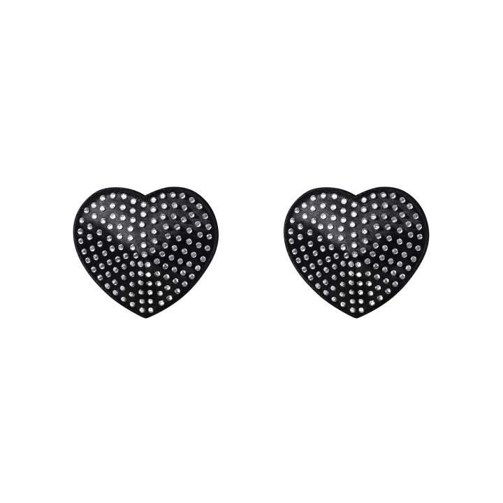 Czarne nasutniki Obsessive A750 w kształcie serduszek