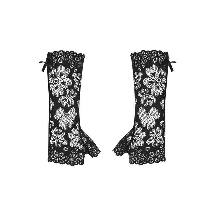 Czarne koronkowe rękawiczki Obsessive 856-ACC-1