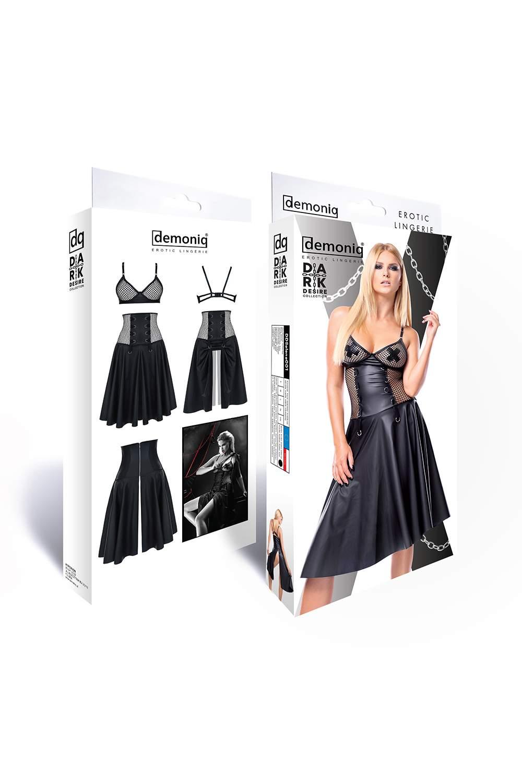 Komplet Demoniq Selene – spódnica z wysokim stanem + biustonosz