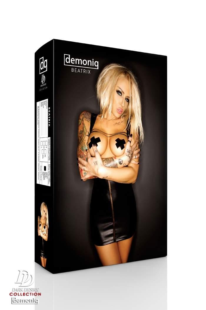 Erotyczna mini sukienka Demoniq Beatrix odsłaniająca piersi