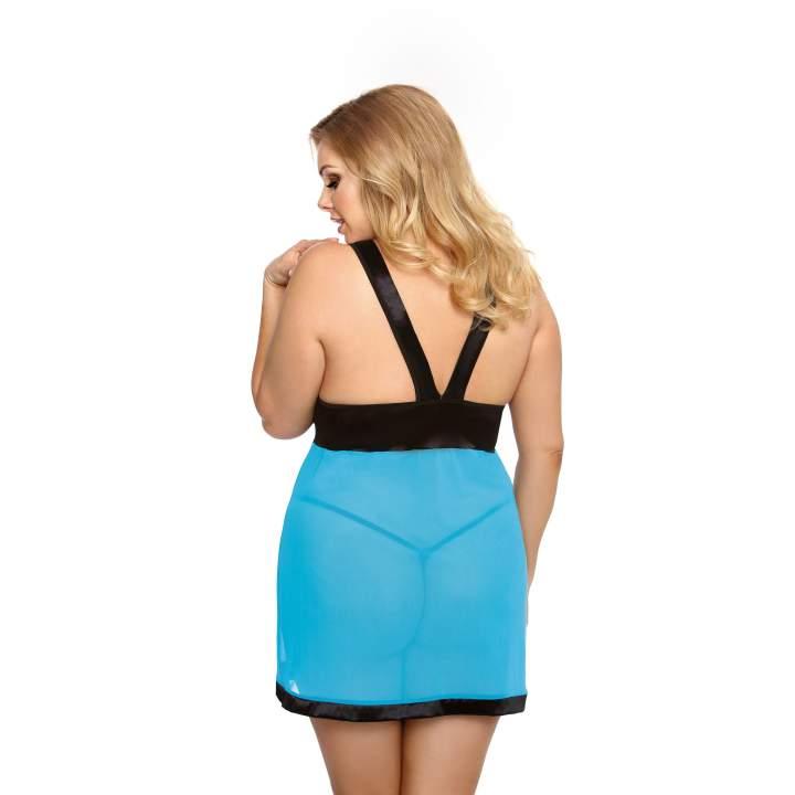 Kusząca turkusowa koszula nocna dla kobiet – Anais Liessa