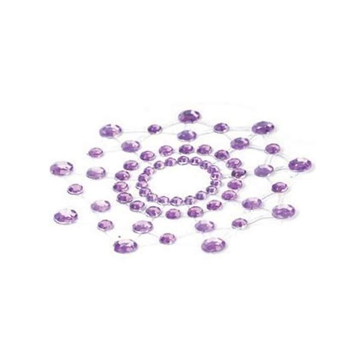Fioletowe nasutniki w postaci błyszczących koralików – Bijoux Indiscrets – Mi Mi