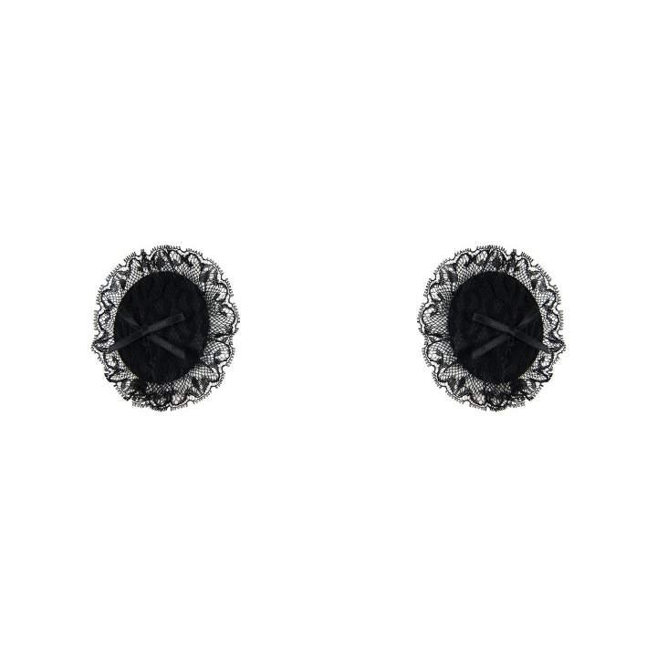 Ekskluzywne czarne nasutniki z seksowną koronką – Anais Essena