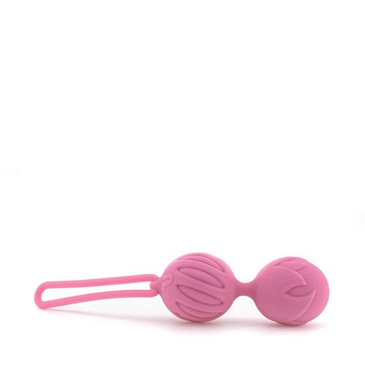 Różowe podwójne kulki gejszy wykonane z silikonu – średnica 3,7 cm