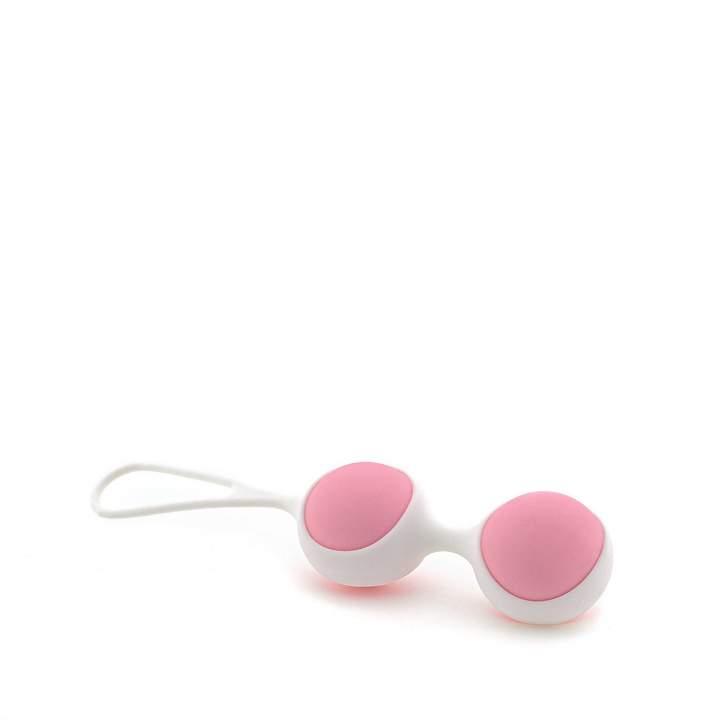 Różowe kulki gejszy w białej oprawie