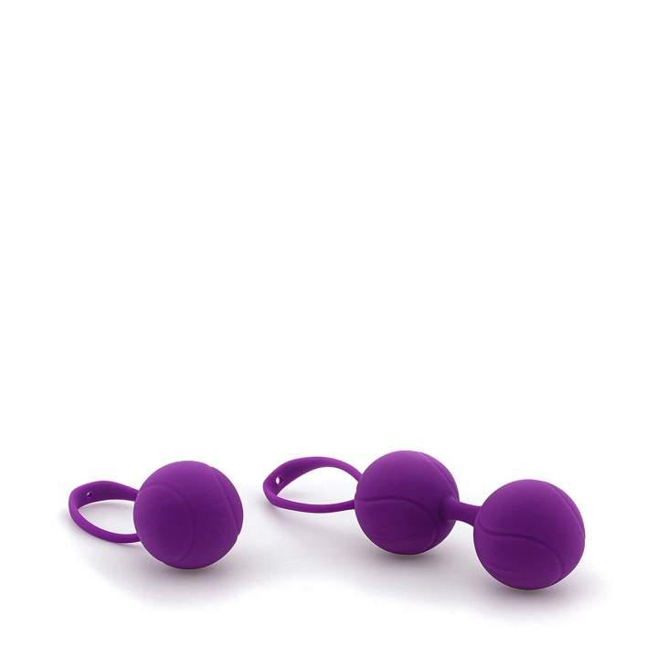 Zestaw fioletowych silikonowych kulek gejszy – 42 i 82 g