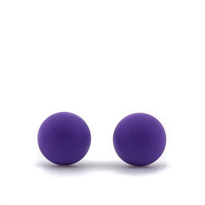 Dwie fioletowe silikonowe kulki gejszy – wodoodporne