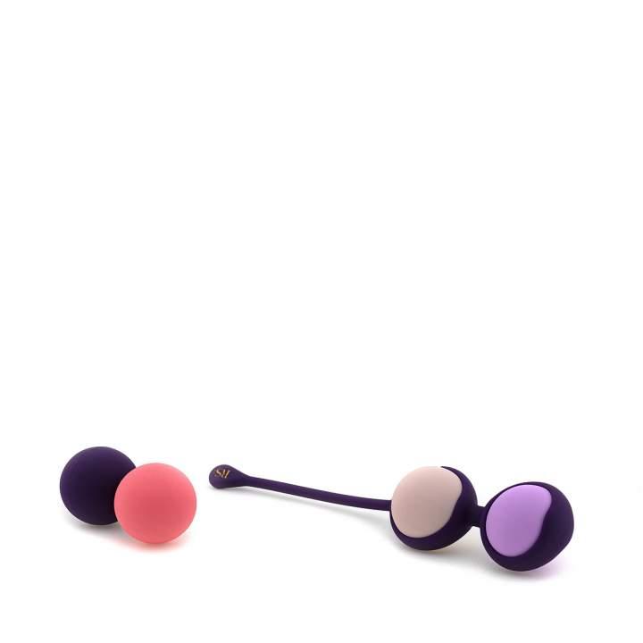Zestaw silikonowych kulek gejszy ważących od 15 do 55g