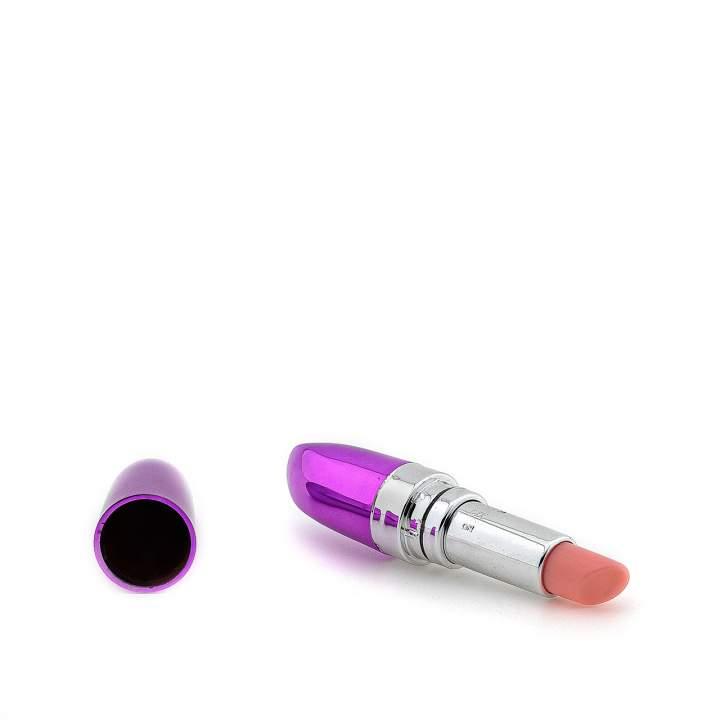 Fioletowy mini wibrator szminka do stymulacji łechtaczki