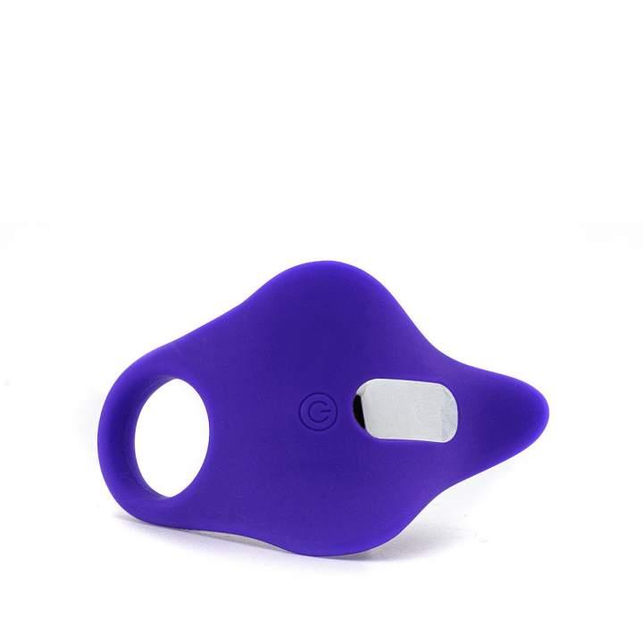 Fioletowy silikonowy pierścień erekcyjny ze zdalnym sterowaniem