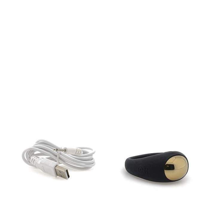 Czarny silikonowy pierścień erekcyjny  – 3,5 cm, 7 funkcji pracy