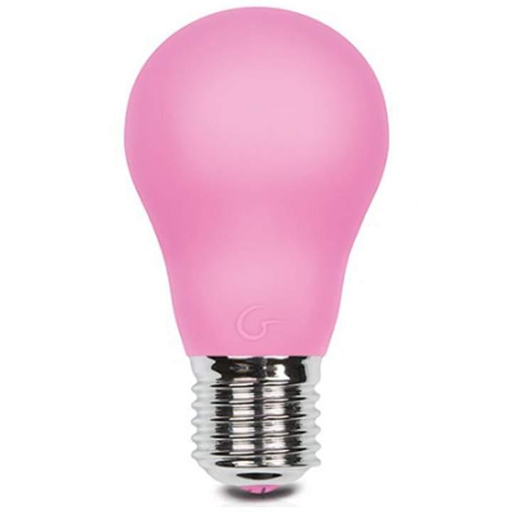 Masażer w kształcie różowej żarówki firmy Gvibe