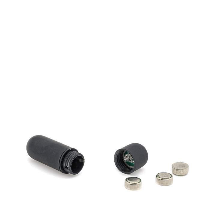Czarny mini wibrator kieszonkowy do stymulacji łechtaczki