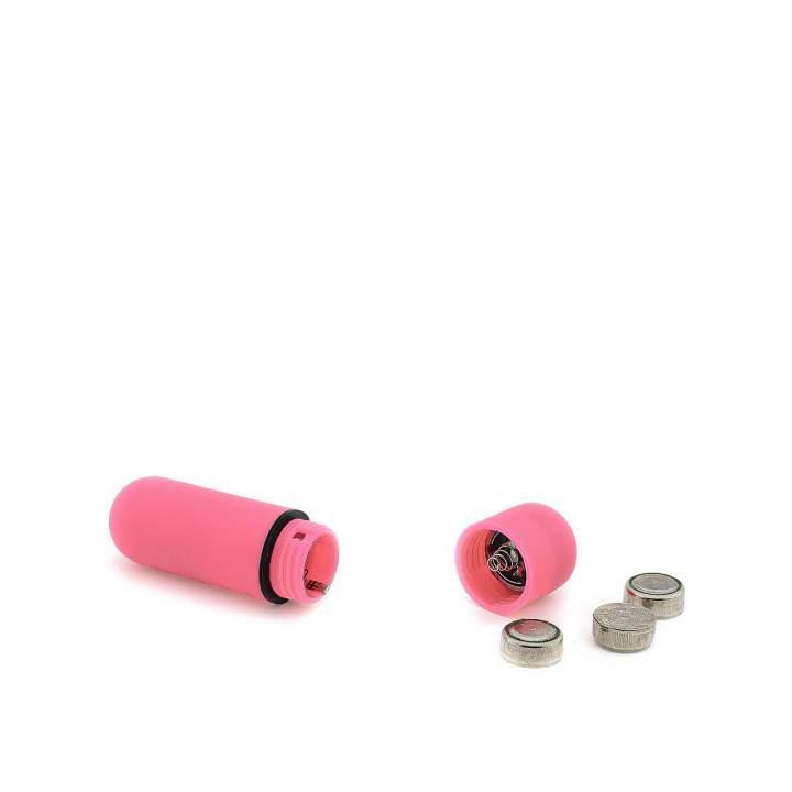 Różowy mini wibrator typu bullet wykonany z tworzywa ABS