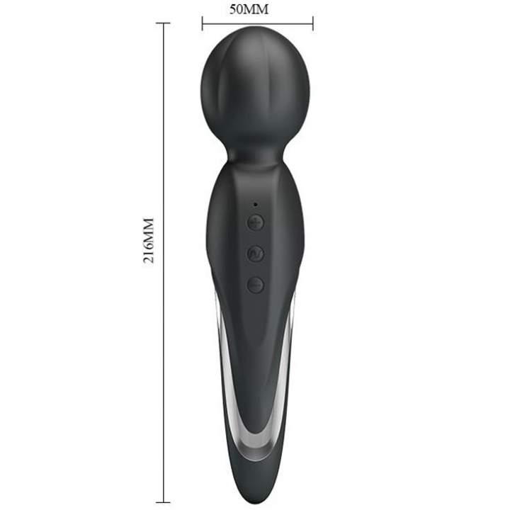 Czarny silikonowy masażer łechtaczki – 7 funkcji wibracji