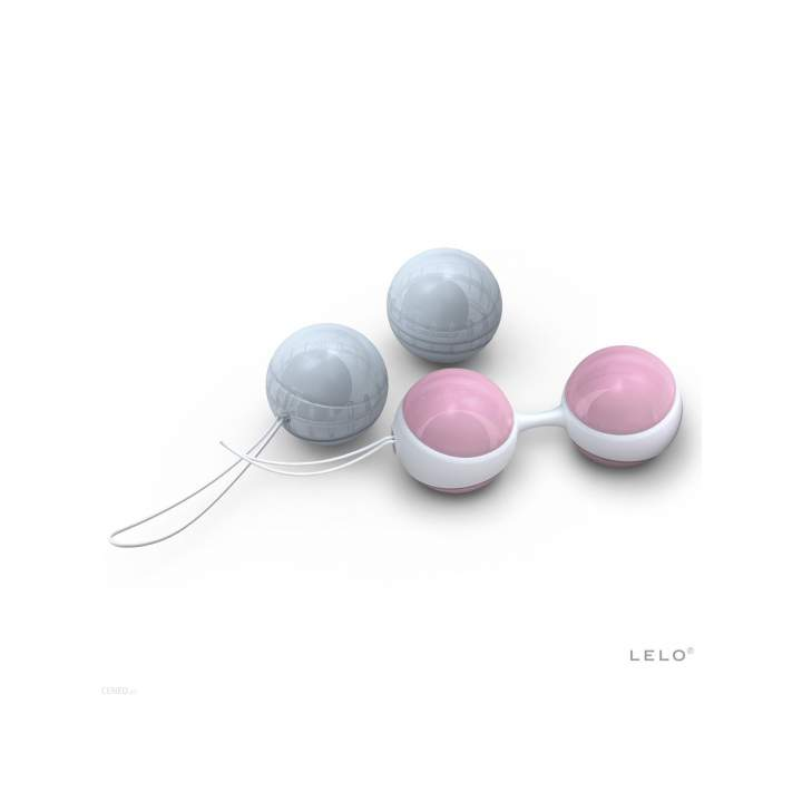Ekskluzywne różowe i niebieskie kulki gejszy Lelo Luna Beads Mini – 2,9-3,6 cm
