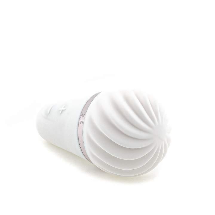 Biały silikonowy masażer w kształcie loda – Layon Sweet Sensation Satisfyer