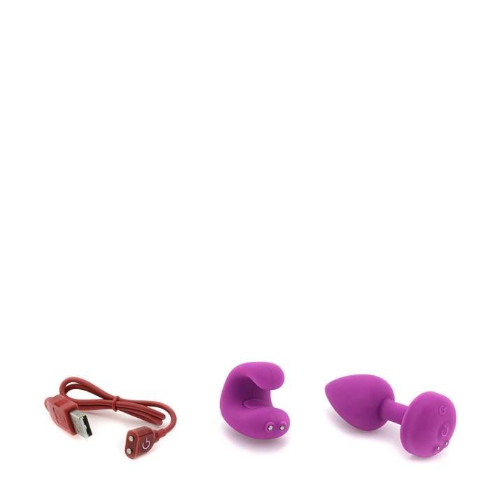 Różowy zestaw Gvibe Gkit: korek analny i palcowy masażer łechtaczki