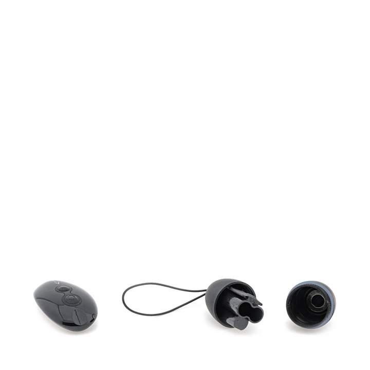 Czarne silikonowe jajeczko wibrujące sterowane za pomocą pilota