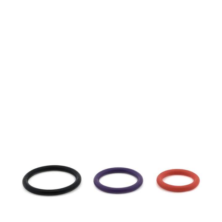 Zestaw trzech pierścieni erekcyjnych dla mężczyzn – różna średnica i kolory