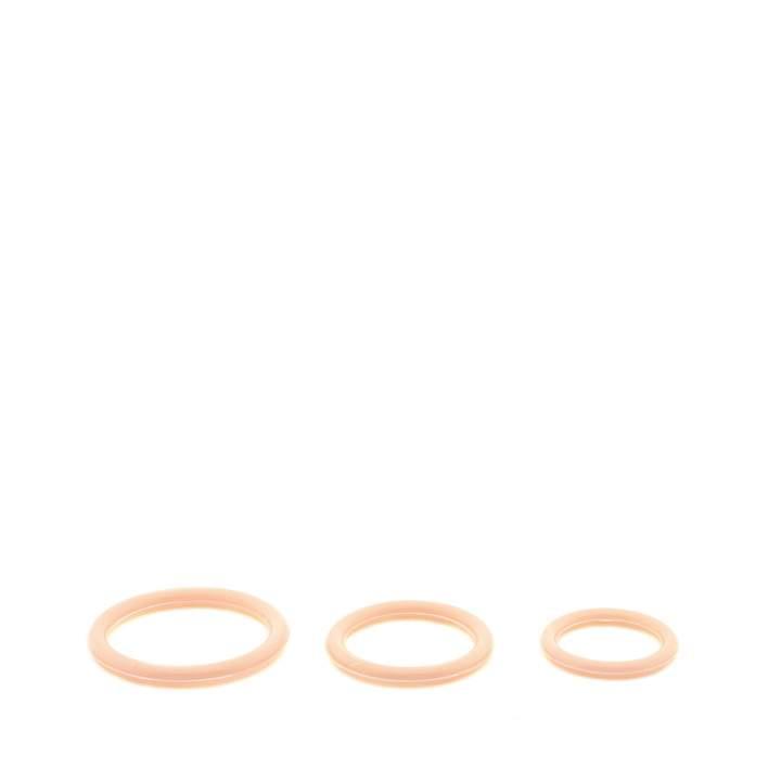 Zestaw trzech cielistych pierścieni erekcyjnych – średnica do 4,5 cm