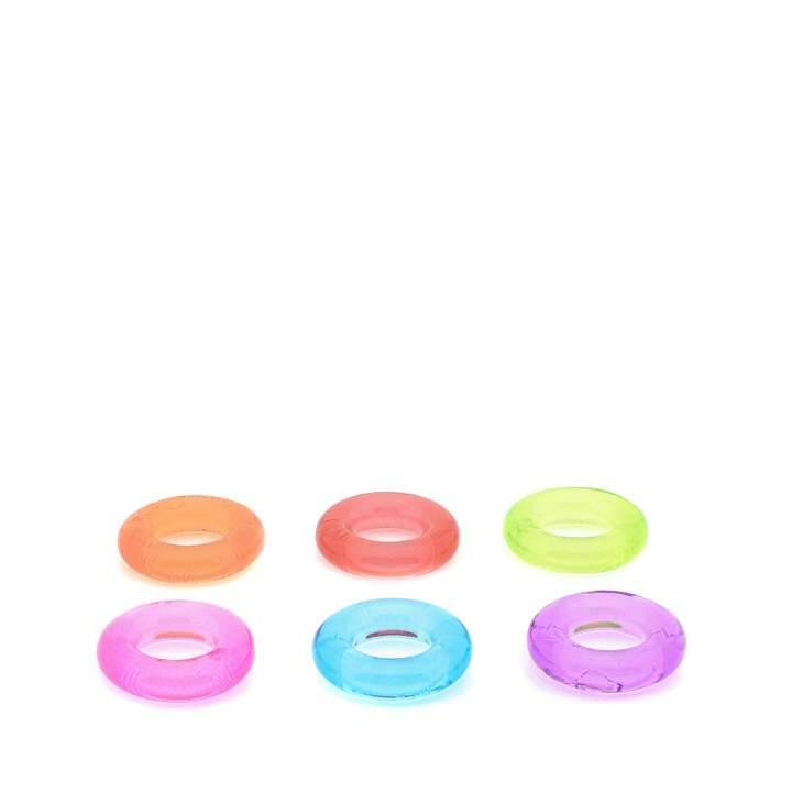 Zestaw sześciu kolorowych pierścieni erekcyjnych – 1,5 cm