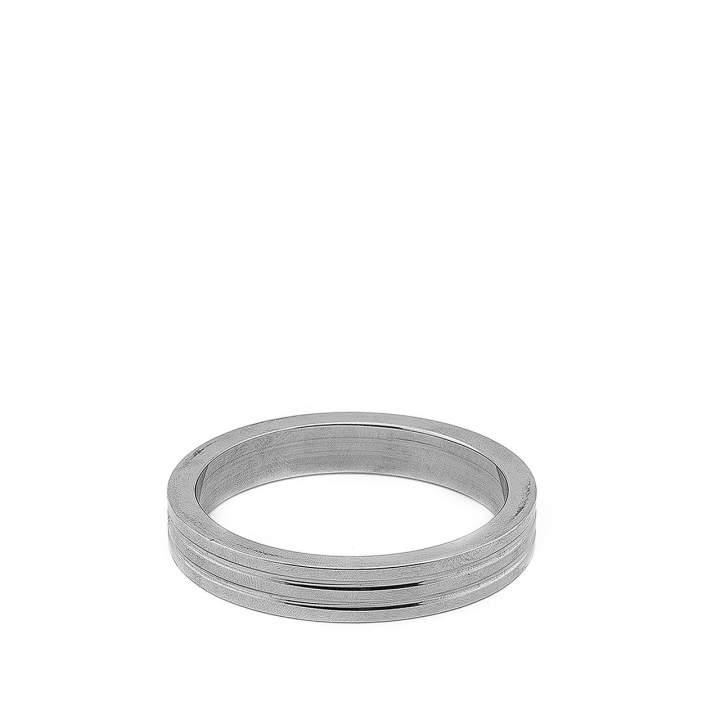 Srebrny pojedynczy pierścień erekcyjny ze stali nierdzewnej – 5 cm