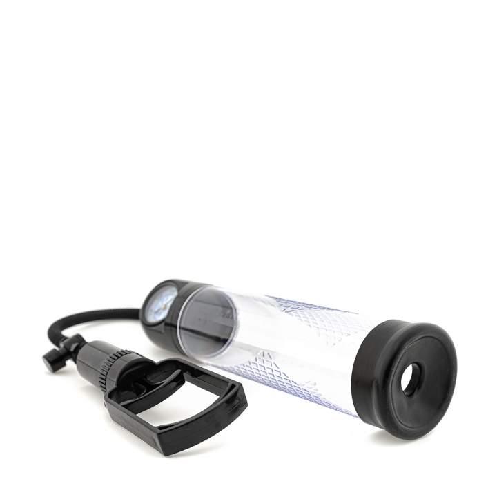 Plastikowa pompka próżniowa do penisa z manometrem – 38 cm