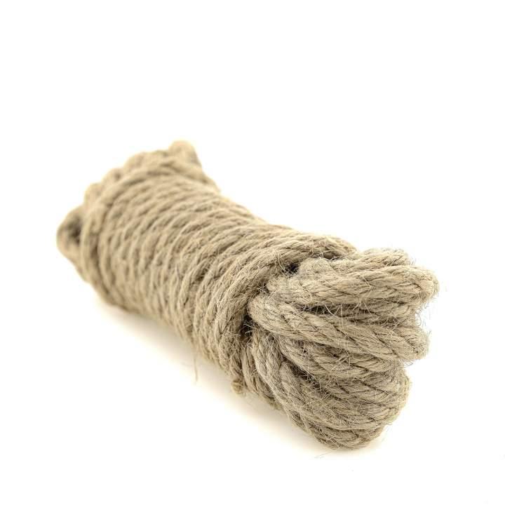 Naturalna brązowa lina konopna do Bondage – 5 metrów