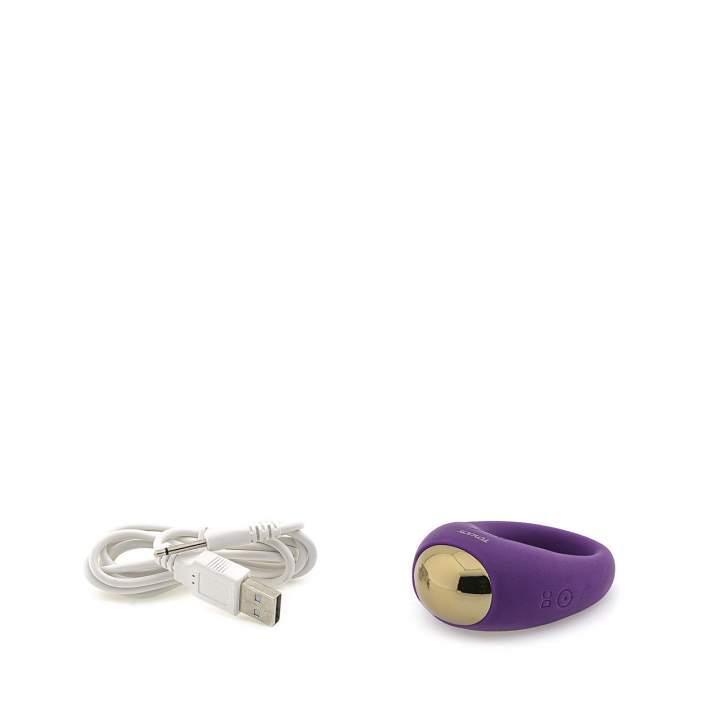 Elegancki fioletowy pierścień wibrujący dla par – 7 trybów pracy