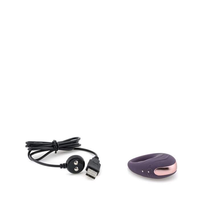 Fioletowy silikonowy pierścień wibrujący na penisa dla par