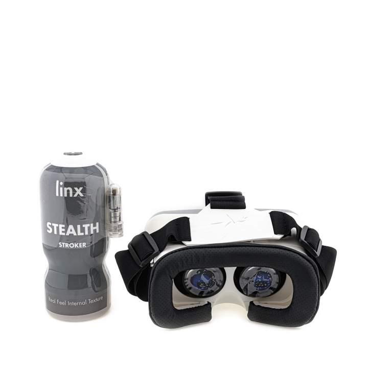 Zestaw: masturbator z goglami VR i wibratorem typu bullet
