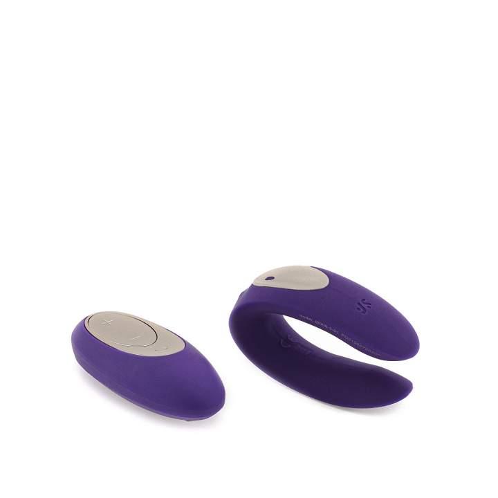 Fioletowy wibrator dla par Satisfyer Partner Plus Remote