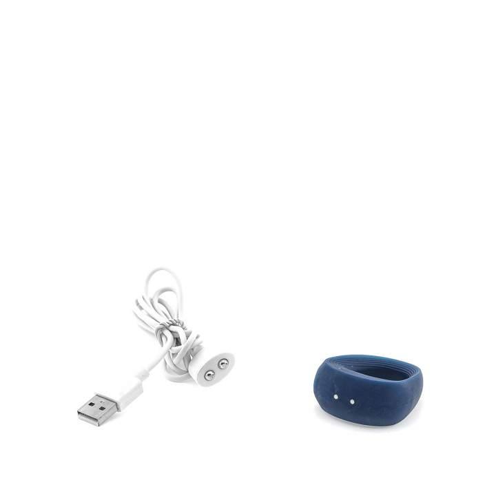 Granatowy wibrujący pierścień erekcyjny dla par niemieckiej marki Satisfyer Ring 2