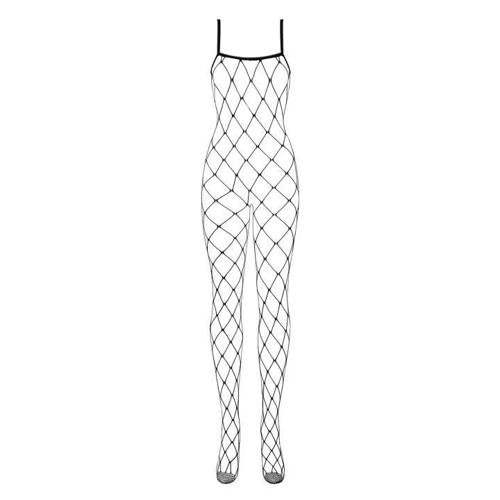 Ekstrawagancki czarny kostium Obsessive N102 typu fishnet