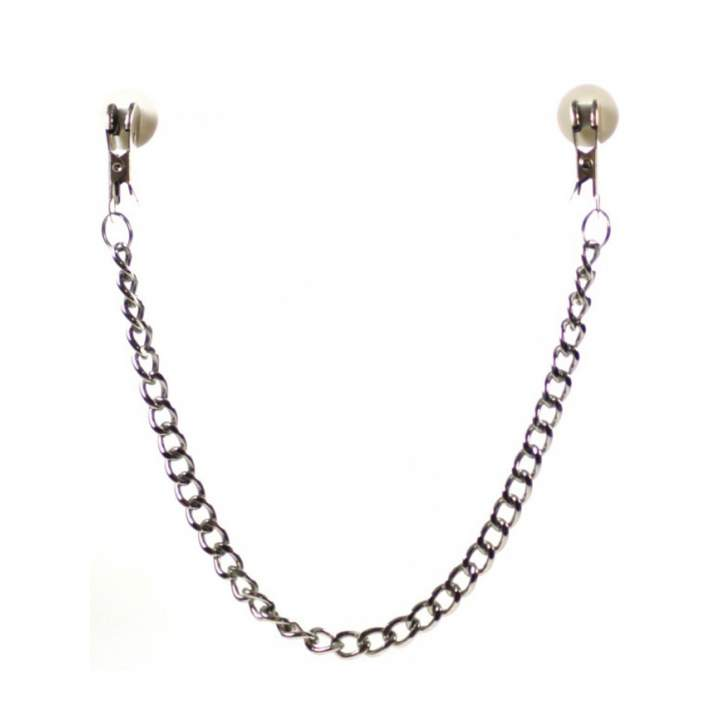 Metalowe zaciski na sutki w srebrnym kolorze