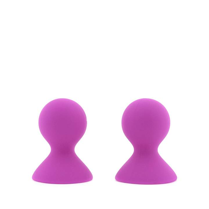 Fioletowe silikonowe pompki do sutków z mocną przyssawką – średnica 5,4 cm