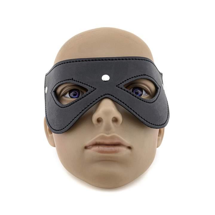 Czarna skórzana maska na oczy dla niej i dla niego
