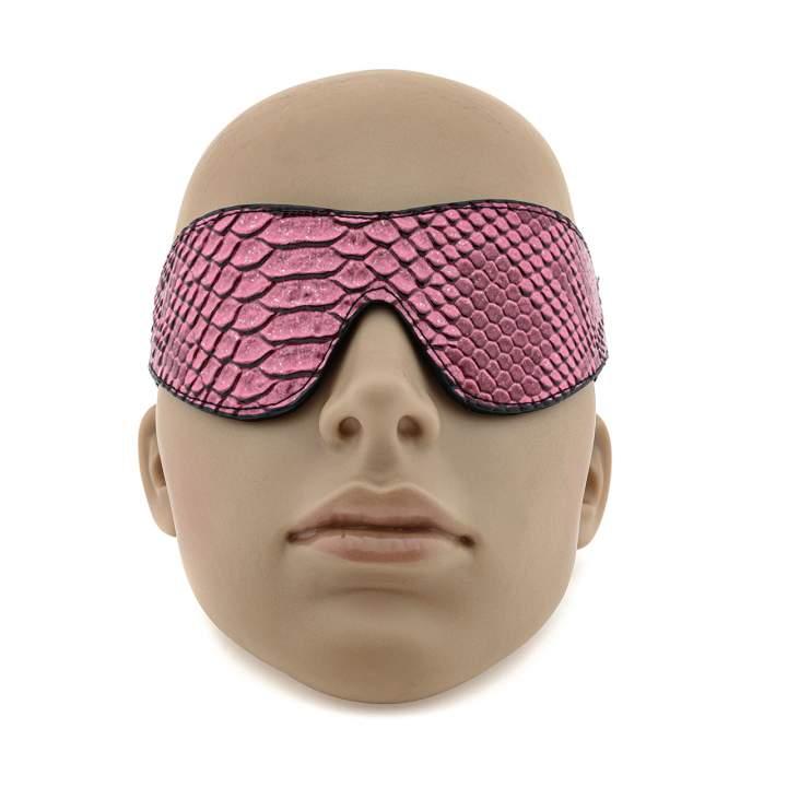 Opaska na oczy - wężowa skórka