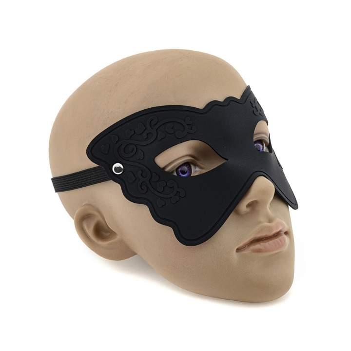 Czarna silikonowa maska na oczy dla niej