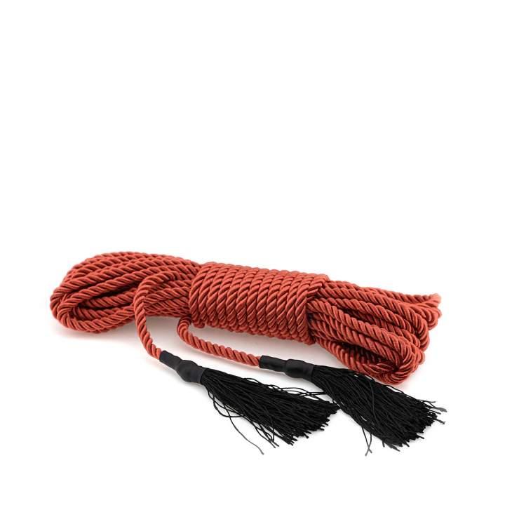 Czerwona satynowa lina bondage  – 9,75 metrów