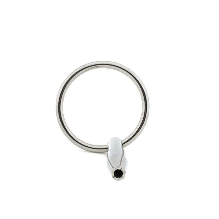 Srebrna metalowa zatyczka do cewki moczowej – 0,8 cm
